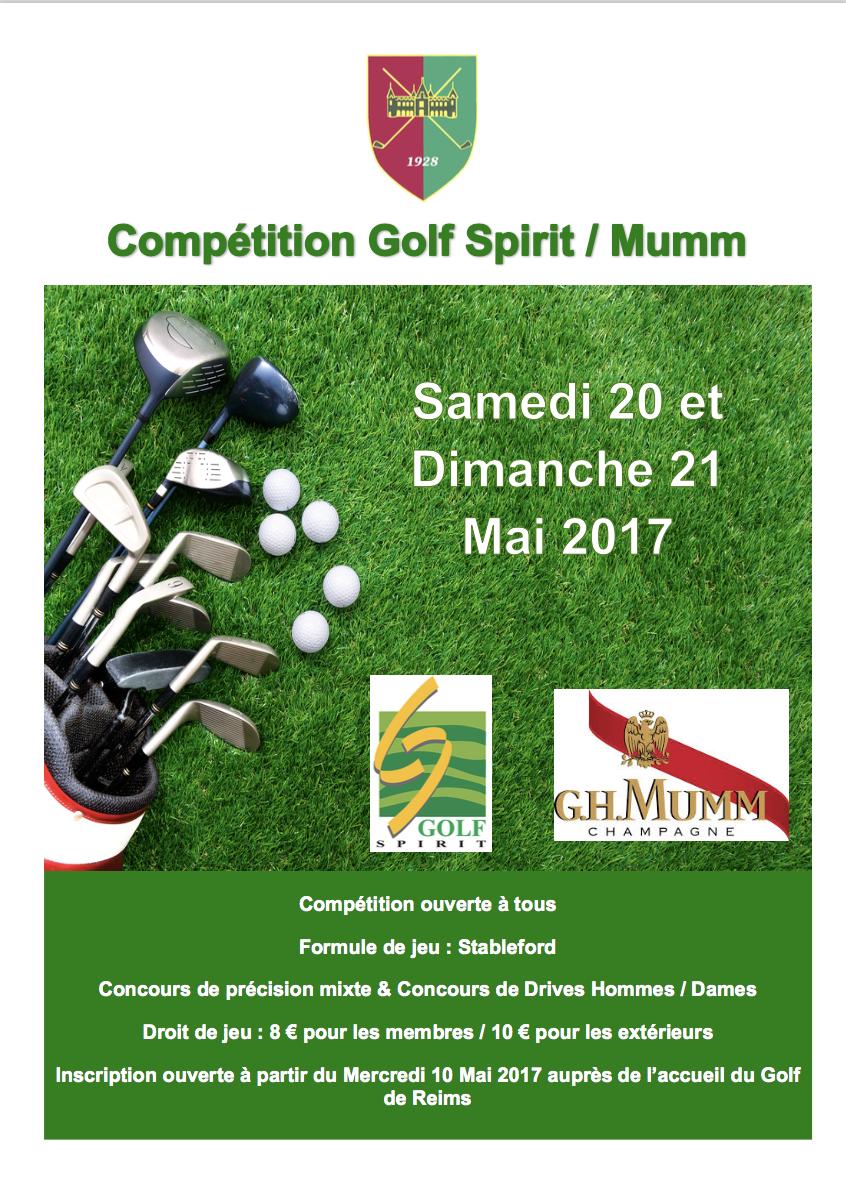 Affiche Mumm : Golf Spirit