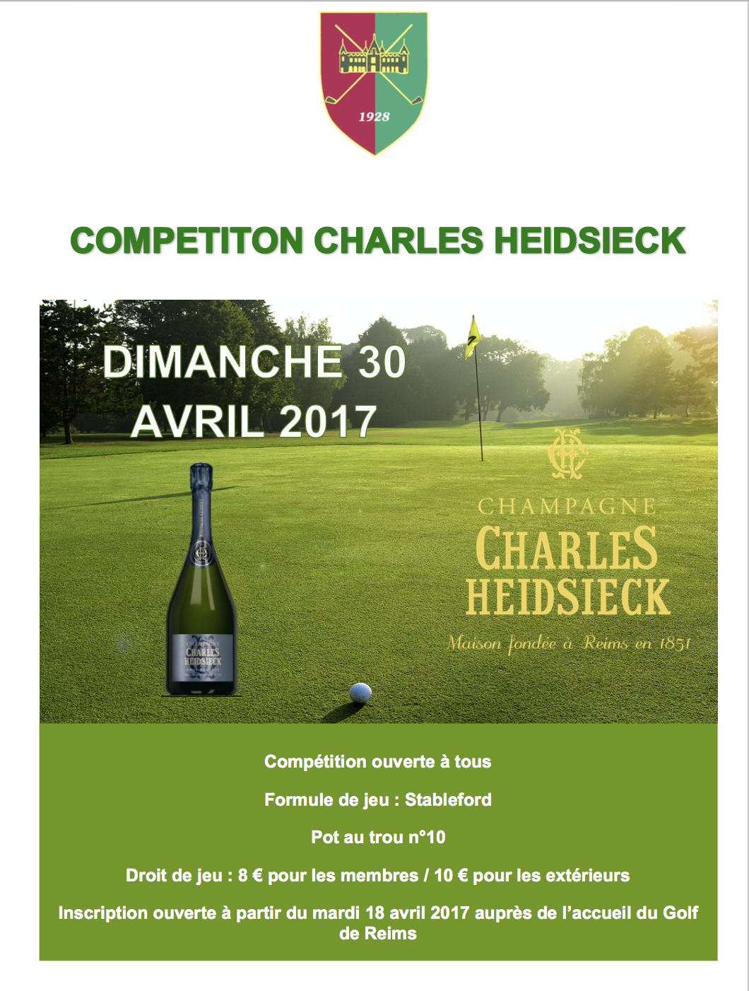 Affiche Competition Charles Heidsieck